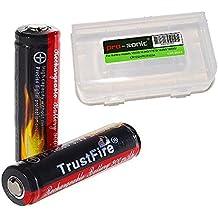 Trustfire 2x 14500 Akku 3,7 V 900mAh Li-Ionen-Akku mit PCB Protection Board