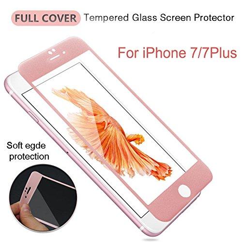 frixie (TM) per Iphone77Plus/colorata copertura completa 9H protezione per lo schermo in vetro temperato 3d Touch temperato HD Pellicola Protettiva 4.75.5pollici Black Iphone 7 Plus Rose Gold Iphone 7