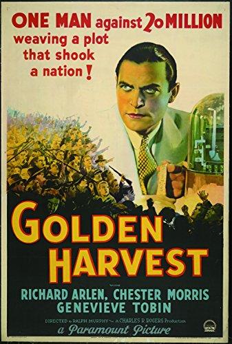 golden-harvest-richard-arlen-chester-morris-genevieve-tobin-1933-affiche-de-reimpression-24x36-pouce