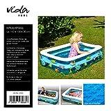 Vida GmbH Kinderplanschbecken Kinderpool Baby Badewanne eckig aufblasbarem Boden Balkon Bällebad...
