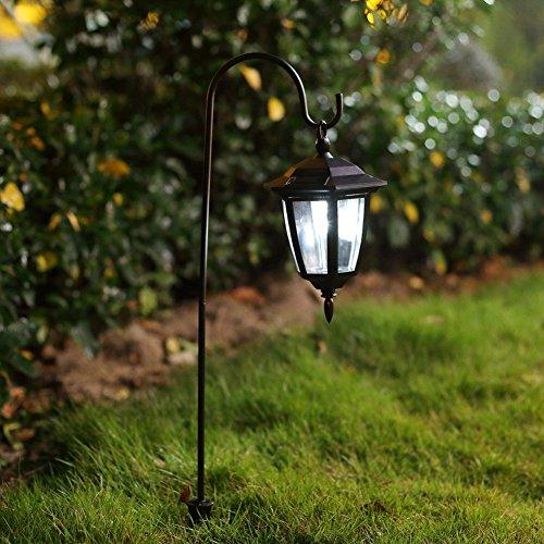 ohuhu® 2 Piezas luz Solar de jardín lámpara LED Exterior alimentata Dal Sol Farol para jardinería/Outdoor/Abierto/Patio/viottolo/Mura/Suelo con Montaje para Colgar