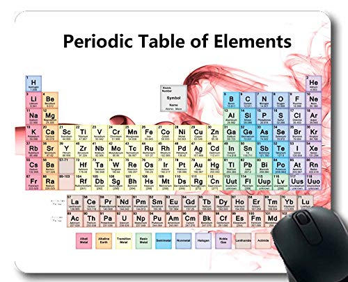 Mauspads, Periodensystem der Elemente-Mausunterlage, Chemie-Diagramm für Lehrer, Studenten, Dickes Gummi-Mousepad