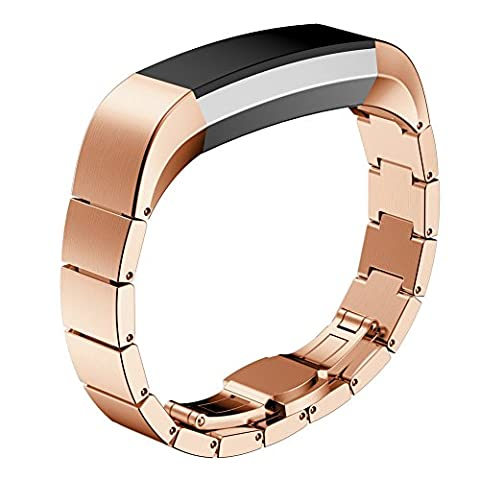 Fitbit Alta Bands, iHee Stainless Steel Watch Band Wrist strap