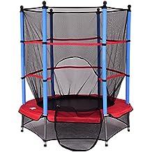 Trampolin Gartentrampolin Kindertrampolin Indoortrampolin Outdoor trampolin mit Sicherheitsnetz Ø 140 cm