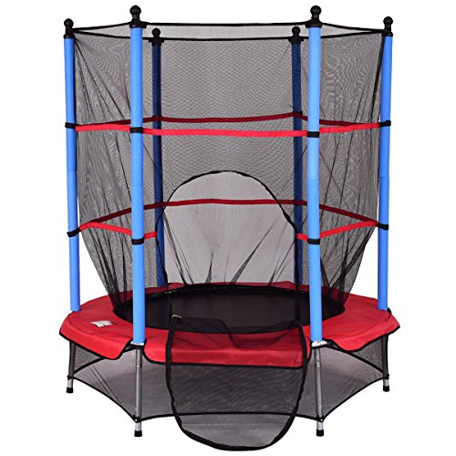 Trampolin Gartentrampolin Kindertrampolin Indoortrampolin Outdoor trampolin mit Sicherheitsnetz Ø 140 cm