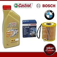7 litros de aceite Castrol Edge 5 W30 + aceite Bosch BMW E46 BMW 330d 520d