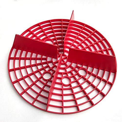 Car Wash Grit Guard Sand Stein Isolation Net Insert Waschbrett Wassereimer Scratch Schmutzfilter Auto Reinigungswerkzeug 23,5 cm - Red Grit Guard