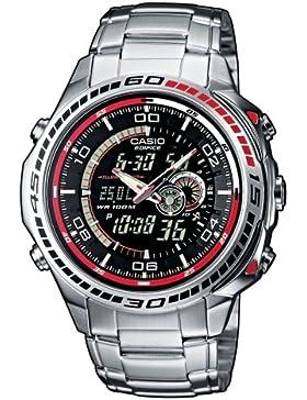 [Gesponsert]Casio Edifice – Herren-Armbanduhr mit Analog/Digital-Display und Edelstahlarmband – EFA-121D-1AVEF