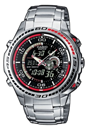 Neo-display Casio Uhr, (Casio Edifice Herren-Armbanduhr EFA-121D-1AVEF)
