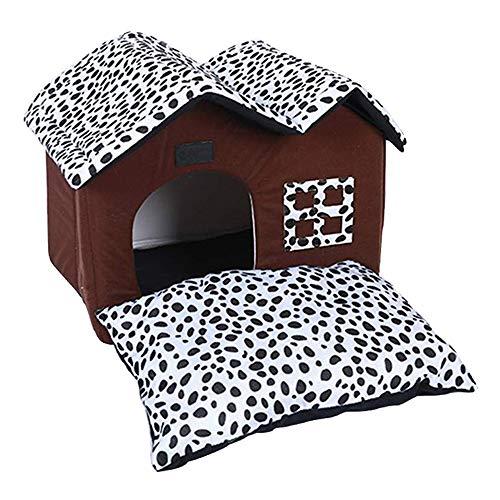 MOCHENG Luxus - Haustier Zu Hause Schlafen Zone Pet - Bett Für Hunde - Haus, Abnehmbare Hundehütte,50x40x35cm -