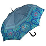 VON LILIENFELD® Regenschirm Automatik Damen Motiv Kunst Elefant Eva Maria Nitsche: Blue Elephant