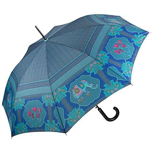 VON LILIENFELD Regenschirm Automatik Damen Motiv Kunst Eva Maria Nitsche: Blue Elephant