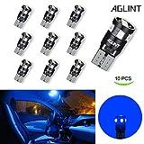 AGLINT T10 W5W Lampe de Voiture à LED Canbus Sans Erreur Haute Lumineuse 9SMD 2835 Auto Ampoules à Utilisées Pour l'éclairage Intérieur de La Plaque D'immatriculation de La Porte 12V Bleu