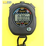 Goank Water Resistant Digital Chronograph Sports Stopwatch Timer (Black)