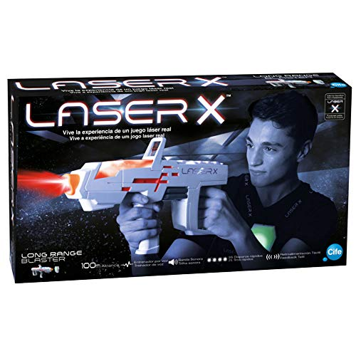 Laser X pislola Laser Individuale A Lungo Raggio, Colore Bianco/Grigio (cife 98235)