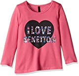 United Colors of Benetton Girls' T-Shirt (16A3094C12ADIK27S_Dark Pink_S)