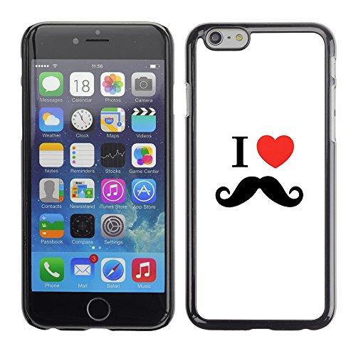 Graphic4You Mustache Schnurrbart Lustig Design Harte Hülle Case Tasche Schutzhülle für Apple iPhone 6 / 6S Design #6