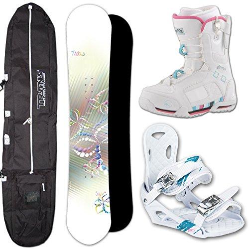TRANS DAMEN SNOWBOARD STYLE - 141 CM + ELFGEN TEAM SMO M + BAG + BOOTS (141 Cm Snowboard)