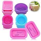 Moldes de silicona para jabón, 18 unidades, hechos a mano, forma ovalada, rectangular, redondos