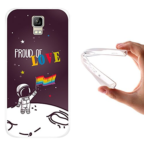 WoowCase Umi Rome Hülle, Handyhülle Silikon für [ Umi Rome ] Astronaut Gay Flagge Handytasche Handy Cover Case Schutzhülle Flexible TPU - Transparent