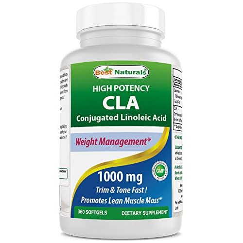51GsCzWs9JL. SS500  - Best Naturals High Potency CLA, 1000 mg, 360 softgels