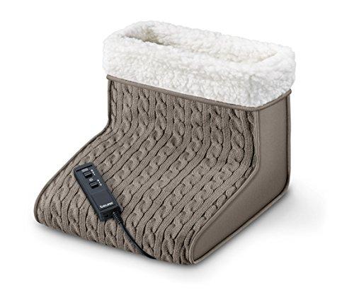 FWM 45 Fußwärmer mit Massage (Wärme und Entspannung für beanspruchte Füße mit weichem Teddy-Futter)