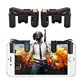 Mobile Game Controller (Neueste Version),teepao Sensitive Gaming Induktion Shoot und Ziel Tasten für pubg/Messer Out/Rules Of Survival/fortnite/SURVIVOR/Royale/kritische OPS,Shooting Game Hilfsmittel für Android iOS Tablet (1 Paar)(Schwarz)