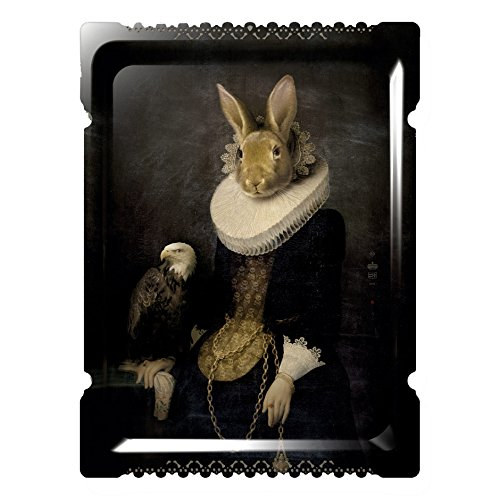 Zhao - Galerie De Portraits - Grand Format - Surreal Wall Tray Art Masterwork by iBride Galerie Tray