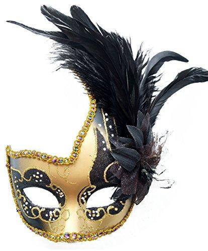 Feder Maskerade Masken Halloween Mardi Gras Cosplay Kostüme Venezianischen Party Masken (Mardi Gras Flapper Kostüme)
