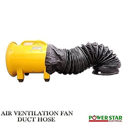 Portable Industrial Ventilator Exhaust Axial Blower Extractor Explosion Proof (EX)Ventilating fan With Duct 10 inches (10 Inches Fan & Duct)
