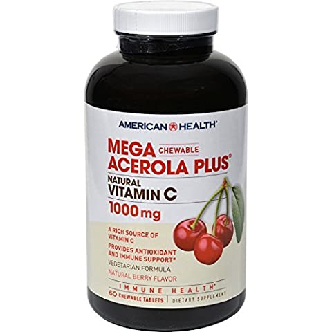 American Health Mega Acerola Plus Chewable Natural Berry - 60