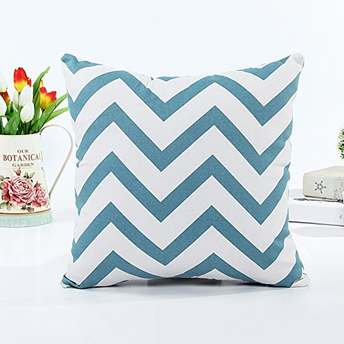 Black and White Throw Pillow Cover for Sofa and Couch Square