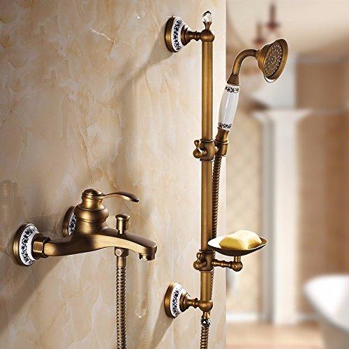 GS~LY Antique doccia,tutti rame vasca da bagno, doccia, vasca da bagno testa, doccia calda e fredda ,N