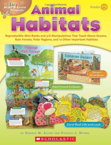Animal Habitats, Grades 2-3: Reproducible Mini-Books and 3-D Manipulatives That Teach about Oceans, Rain Forests, Polar Regions, and 12 Other Impor (Easy Make & Learn Projects)