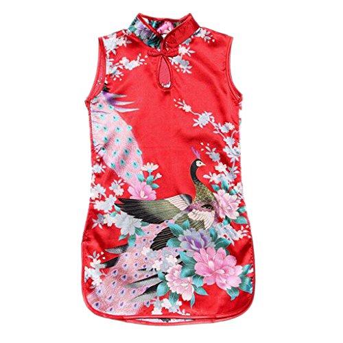 Homyl Asian Princess Kinder Mädchen Qipao Cheongsam Geisha Partykleid Satin asiatisch Kostüm - Farbe 6, - Kostüm Für Asiatische Mädchen