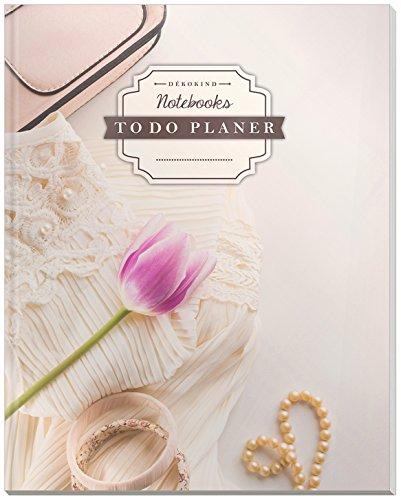 DÉKOKIND To Do Planer: DIN A4, 100+ Seiten, Register, Vintage Softcover | Dickes Checklisten Buch | Motiv: Mädchen