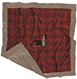 Carstens Baby Blanket, Red Plaid Bear, 3...