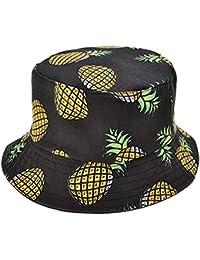 Daliuing Sombrerode Pescador Visera con Gorra Protección contra Sol UV  Transpirable Sombrero de Algodón Estampado a38dfe334b7