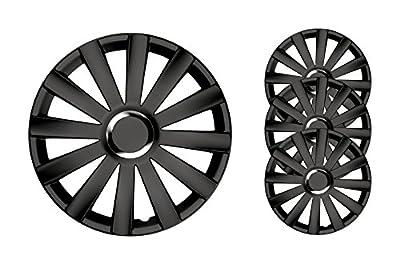 4er Set Radkappen Radzierblenden Radabdeckungen Modell Spyder Pro Schwarz von PKWelt auf Reifen Onlineshop