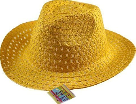 Boys Easter Cowboy Hat - Ideal to decorate - Yellow