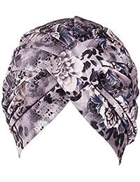 Fossrn Vintage Flores Gorro Sombrero Turbantes Pañuelos Cabeza Mujer para Cancer Quimioterapia, Oncologicos, Pérdida de Cabello