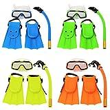 Bazaar Figli minori lo snorkeling set boccaglio occhiali maschera pinne immersioni subacquee nuoto bambini set
