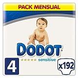 Dodot Sensitive - Pañales Talla 4, 192 Pañales, 9-14 kg