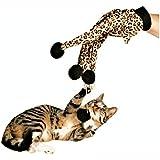 SwirlColor Pet Cat Toy Teaser gatito Rascador juguete interactivo del gato guante para los gatitos Gatos
