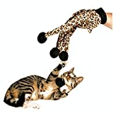 SwirlColor Haustier-Spielzeug-Katze Teaser Kitten Scratcher Cat Glove Interactive-Spielzeug für Katzen Kätzchen