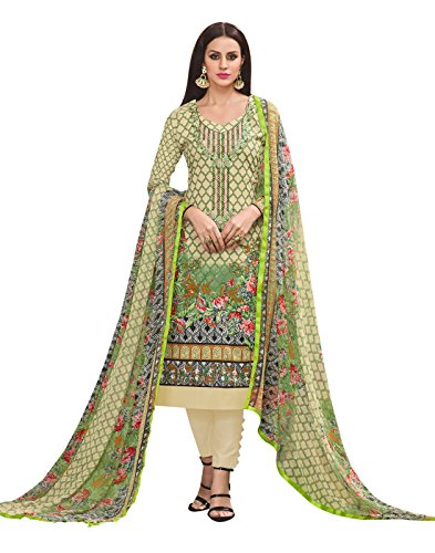 Rosaniya Cotton Un stitched Embroided Self Digital Printed salwar suit for women...