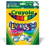 Crayola - Rotuladores gruesos ultra lavables, 8 piezas (58-8328)