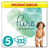 Pampers Pure Protection Größe 5, 132 Windeln, 11 kg+, Monatsbox