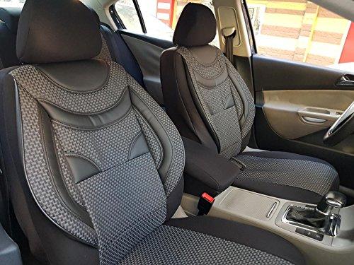 Schwarz-graue Dreiecke Sitzbezüge für CITROEN C4 Autositzbezug VORNE