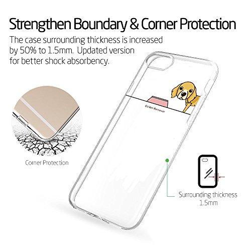 Pacyer® iPhone 7 Custodia Cane Dog TPU Gel Silicone Protettivo Skin Custodia Protettiva Shell Case Cover Per Apple iPhone 7 (4,7) (8) 7